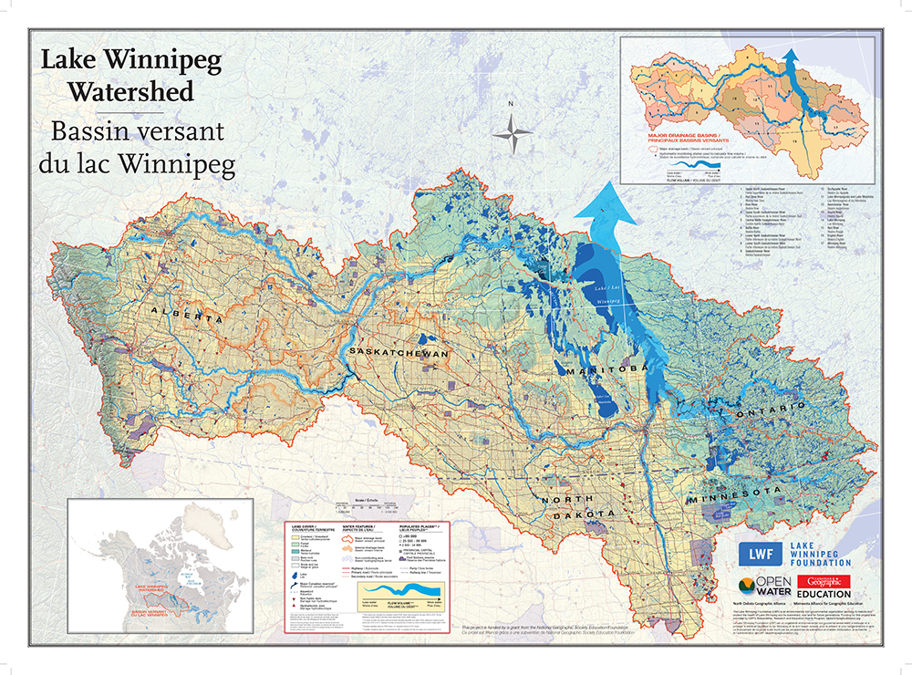 Winnepeg Canada Calendar Map Mapping out new watershed connections | Lake Winnipeg Foundation