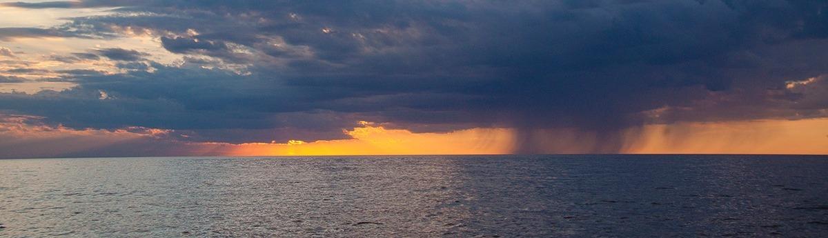 Lake Winnipeg at dusk