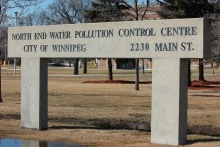 Winnipeg's north end sewage treatment plant