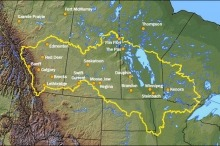 A map of the Lake Winnipeg watershed