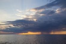 View of Lake Winnipeg at dusk