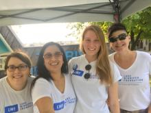 Four LWF staffers at a Gimli event