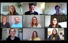 A screen grab of the LWF team taken during an online staff meeting.
