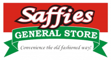 The logo for Saffies General Store in Albert Beach, Manitoba.